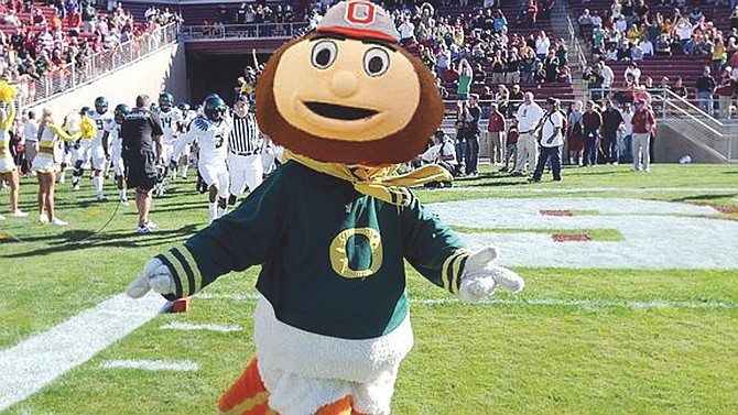 What to do for the national championship game when you're an Ohio native but grew up in Oregon? Create a mascot of your own with Juxtaposer!