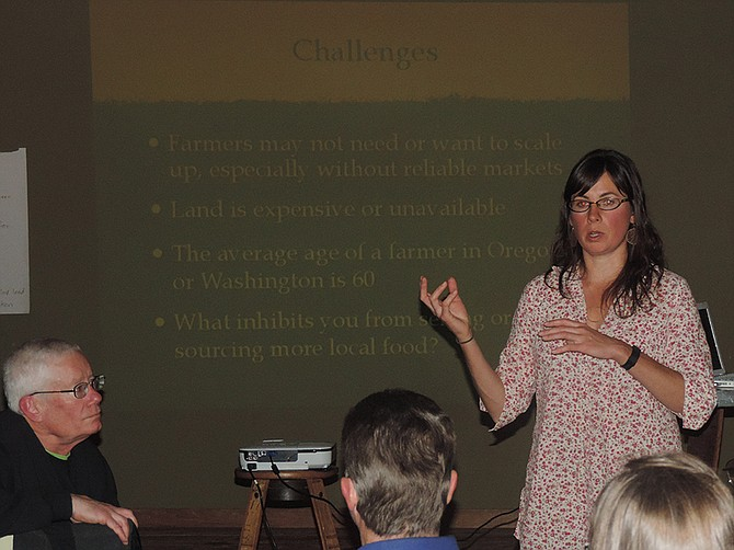 """Change happens from the ground up,"" Gorge Grown director Sarah Sullivan told members Thursday."