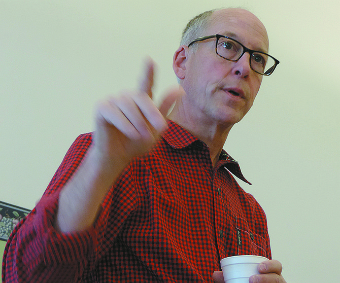 GREG WALDEN gestures during his previous town hall, in November 2014.