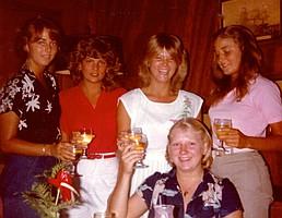 Carrie, Vandi, Anne Julie and Beth April 1981