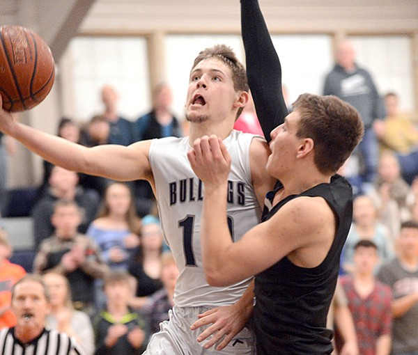 The Bulldogs trailed Orofino by 18 last Saturday, Feb. 21, but late in the game, Austin Parks drew this foul and sank the ensuing freebies to bring GHS within a point of tying the 2A District I-II tournament contest.