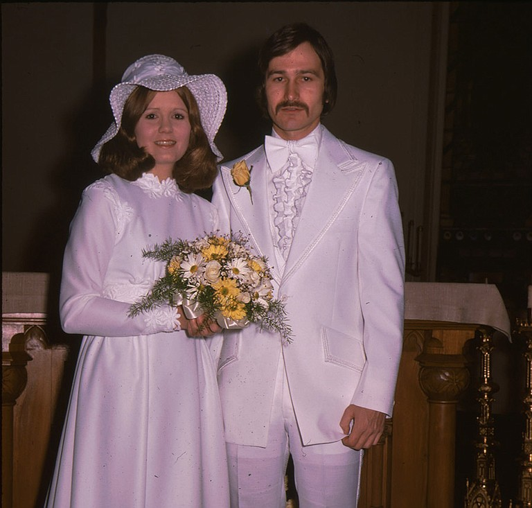 Mike and Patty Schend on their wedding day.