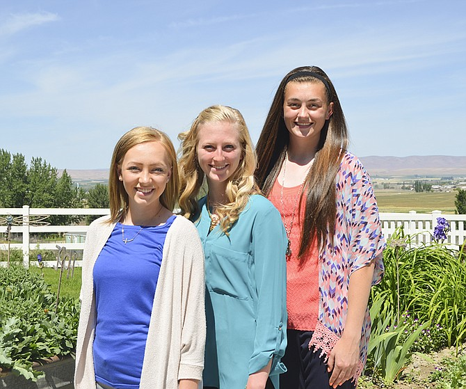 Vying for the 2015-16 Yakima Valley Dairy Ambassador title on Thursday of next week will be (L-R) Natalie Bangs, Jessica Stoutjesdyk and Katelyn Banks.