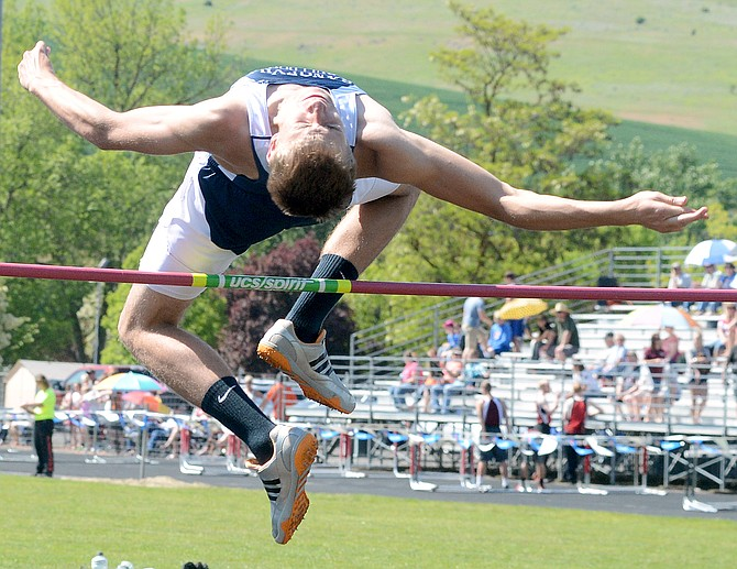 Grangeville's Dillon Alder cleared six feet in the high jump at the District I-II meet last Friday, May 8, and qualified to compete at the state meet to be held in Middleton this weekend, as did 40 other individual athletes out of Idaho County high schools.