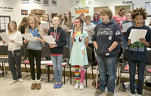 The Dalles Middle School choir is working on six different pieces for their spring concert on Tuesday, June 2 at 7 p.m. in the commons.
