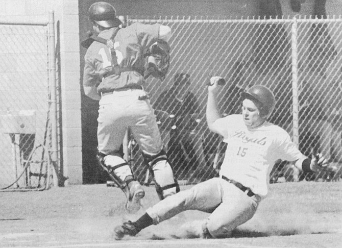 1995: Jason Bangs slides safely into home in the Lower Valley Royals' 10-5 win against the Pasco Sun Devils in Senior American Legion Baseball League play.