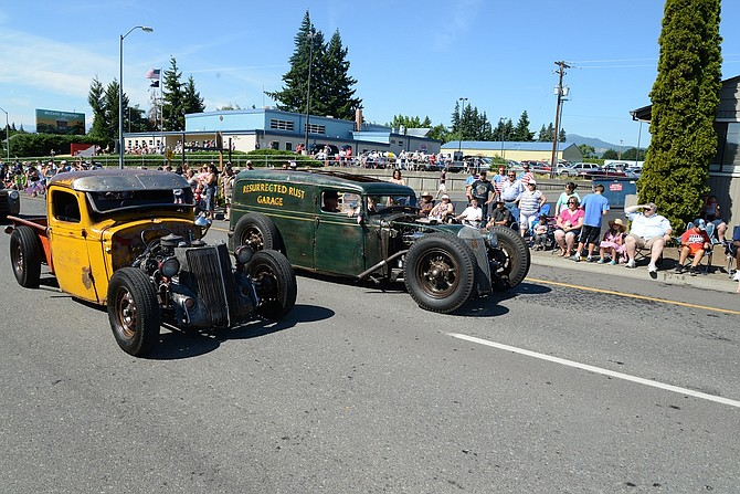 "RESTORED (and under restoration) vehicles from WAAAM and the community will be on display this weekend, including Hood River's ""Coke Truck"" and ""Roadmaster Junior,"" shown in the July 4 parade. Roadmaster, from Resurrected Garage, won the 2014 Blue Collar Rat Rod build out last year."
