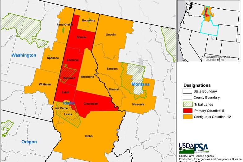 USDA Designates Idaho Counties As Drought Disaster Areas Idaho - Idaho county map
