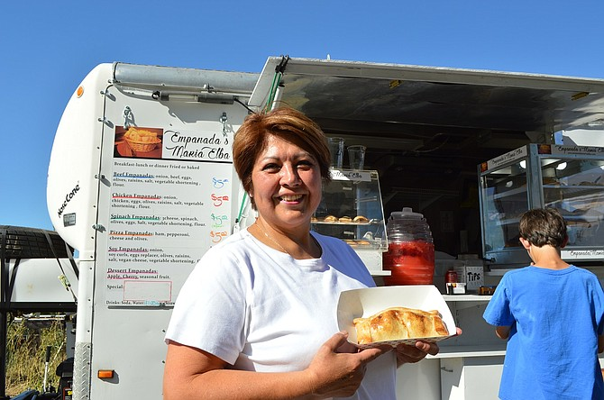 Normy Vega, owner of Empanadas Maria Elbas — named for her grandmother — has been selling at the Hood River Farmers' Market for the past three seasons and has gained quite a following.