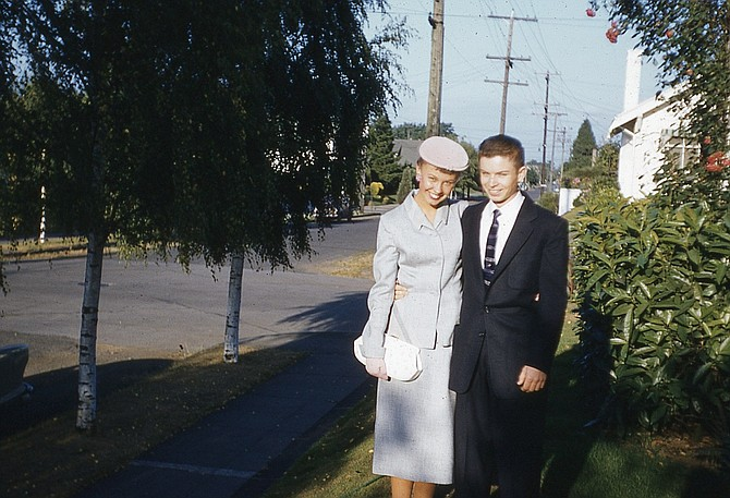 Orvin and Carol Olson in 1955.