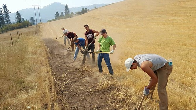The Kamiah community was well represented by several Kubs who pitched in with an effort to put a fire break near a Crest Drive home on Thursday, Aug. 13.