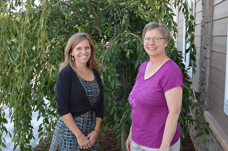 Amy Lindley, left, The Next Door's foster parent recruiter, and Heidi Venture, communications manager, are looking for new foster families in Hood River and Wasco counties.