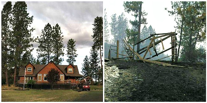 The Yarbroughs lost their home on Beaverslide. Pictured is their home before and after the fire.