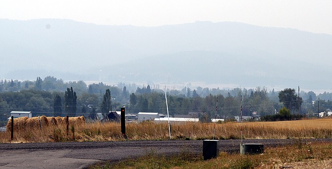 Looking south into Grangeville from the Idaho County Airport is somewhat hazy today (Wednesday, Aug. 19) due to wildfire smoke covering the region.