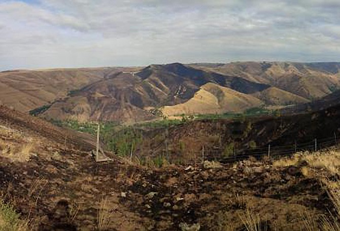 The Tucannon Fire is burning in the Camp Wooten area, about 20 miles east of Dayton.