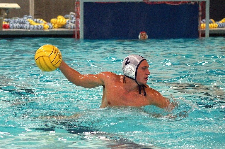 HRV WATER POLO teams are looking to build on last year's successful season and make a deep run in the playoffs this year. Charlie Sutherlands winds up during a Sept. 3 scrimmage in Lake Oswego.