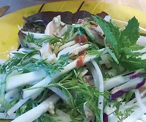 Spicy Vietnamese Kohlrabi Salad