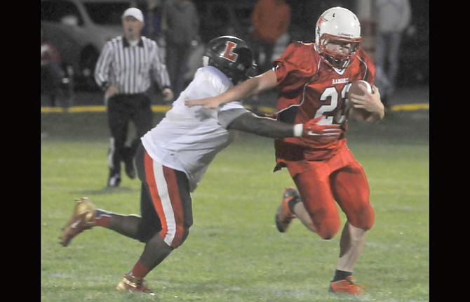 DUFUR running back Hagen Pence rushed for 98 yards and two touchdowns to lead the No. 1-ranked Rangers to a 44-14 win over Hosanna Christian Friday in a non-league football game in Klamath Falls.