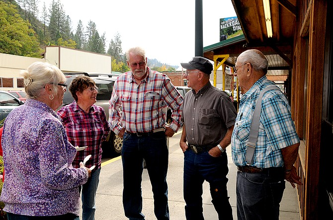 A sunny day on Kooskia's Main Street Thursday, Oct. 1, drew a crowd of area residents to tour the Syringa Kooskia Clinic, have hot dogs, visit with new providers and friends and listen to music.