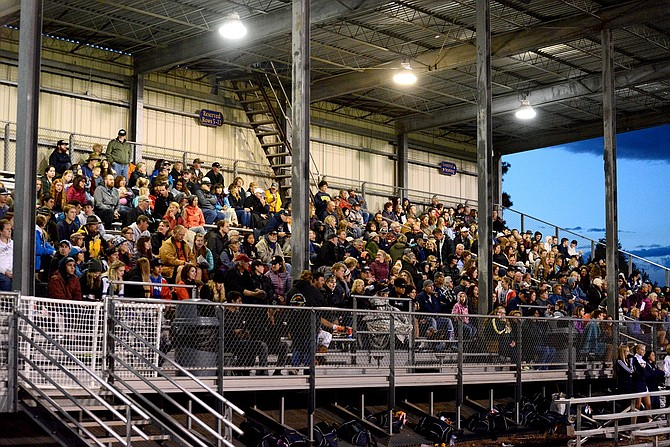 Henderson Community Stadium hosts a packed crowd during HRV's season opener last month against Woodburn.