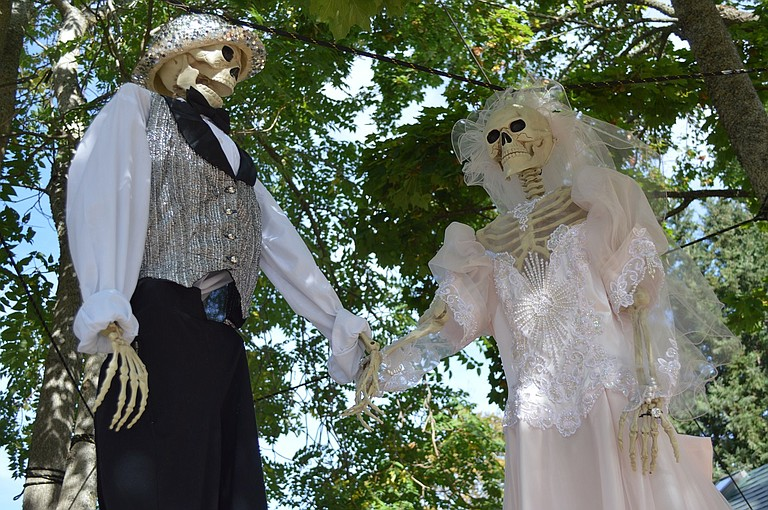 HANGING out for Halloween? Plenty of folks, including Steve and Rosemary Shepardson's on May Street, adorn their yards in creepy splendor.