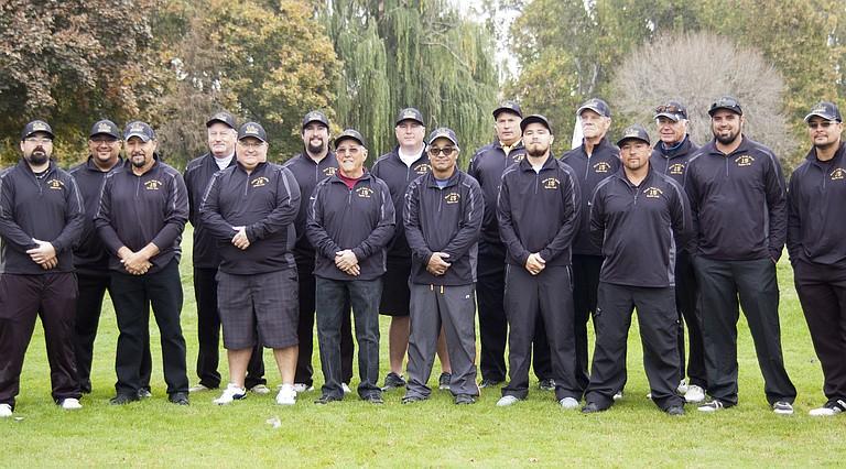"Black Rock Creek's 2015 ""Ryder Cup"" team was comprised of (L-R) Jeremy Stegeman, Miguel Puente, Joel Pulido, Tye Barrett, Grant Smith, Sean Tudor, Gene McIntire, Jon Bright, Jim Leighty, Dave Wilson, Nate Espinoza, Mark Richey, Trini Madrigal, Randy Boast, Jason Eberle and A.J. Cisneros."