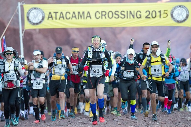 ULTRA athlete and local businesswoman Jax Mariash Koudele (93) starts the Atacama Crossing, and would be the second woman to finish the bruising week-long race.