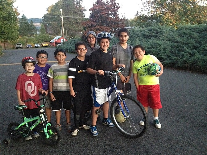 JOSUE is the proud owner of a new bike, an extension of his rich experience last summer at Cascade Mountain School.