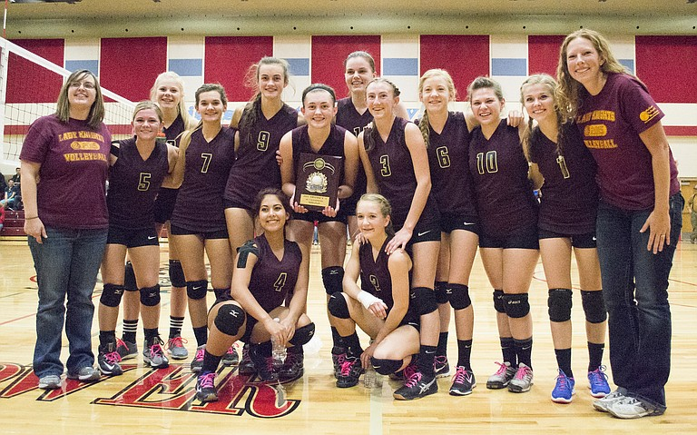 The Sunnyside Christian Knights are the District 5 champions and will travel to Yakima on Friday, Nov. 13, to start the State Volleyball Tournament against Neah Bay at the SunDome. In last year's tournament, the Knights defeated Neah Bay in three sets in the opener.