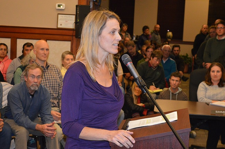 "JULIE Gilbert tells Council, ""You need to come up with a longer term solution"" than STR rules."
