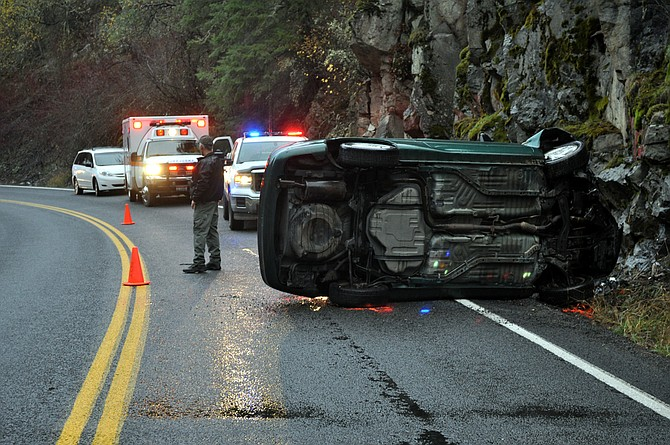 NOV. 11 -- Idaho State Police is investigating a single-vehicle fatality crash that happened south of Stites on State Highway 13. The driver, unidentified at this point, died at the scene.