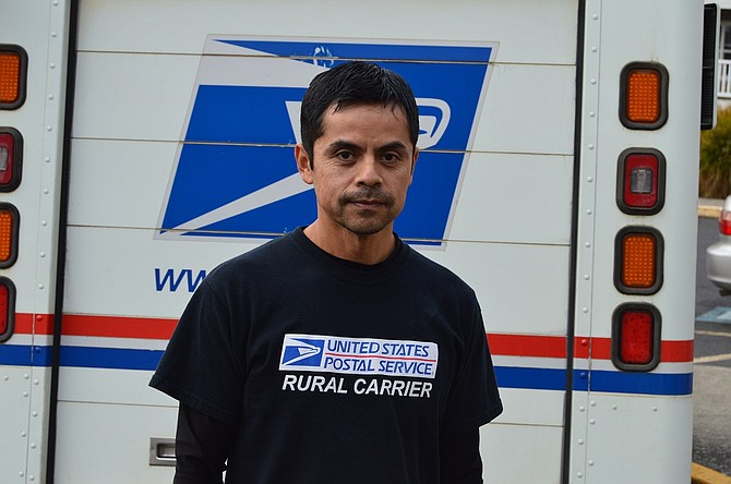 Victor Magana has worked for the USPS for nine years. His is one of the larger carrier routes, with over 700 stops.