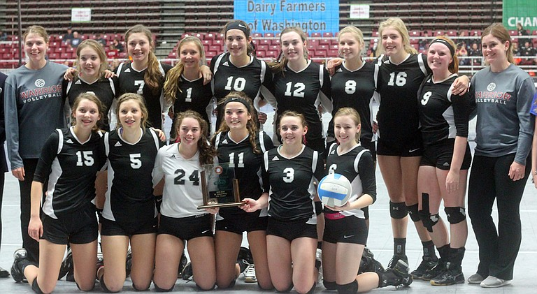 The Almira/Coulee-Hartline volleyball team finished fifth at state.