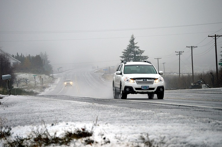 SNOW blankets the Hood River Valley in this file photo taken at Highway 35 near Odell in November.