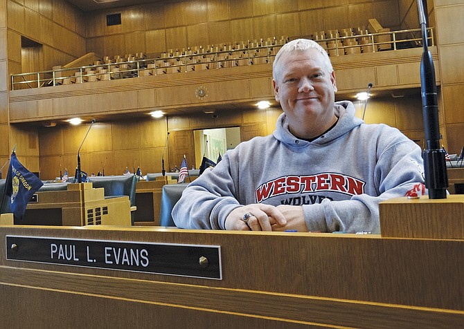 In January, Rep. Paul Evans was one of two rookie representatives from Polk County to be elected to the Oregon Legislature's House of Representatives.