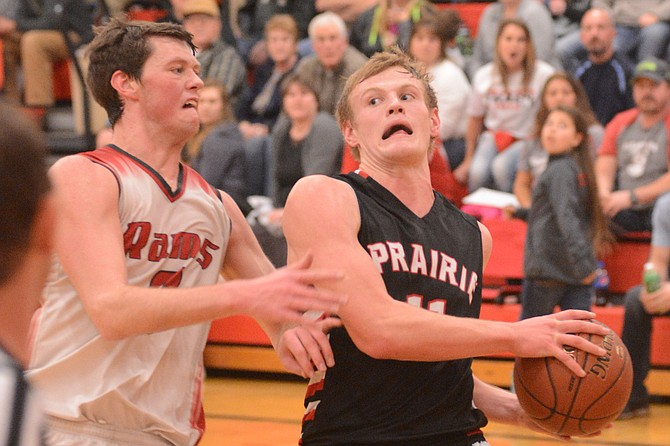 CV's Grant Wallace and Prairie's Jake Bruner dueled back and forth throughout an intense matchup Friday night in Kooskia.
