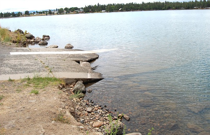 The Pine Hollow Reservoir north boat ramp has been broken and closed for about five years and has motivated a group of South Wasco County citizens to form a non-taxing parks and recreation district. Contributed photo