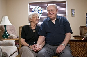 Louise and Delmar Kendrick have been married for almost 66 years and recently moved into The Springs at Mill Creek, where they plan to spend the remainder of their retirement years.