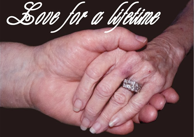 The Kendricks had a photo taken of their clasped hands that they wanted featured on their memorial service program. They have prayed to go together because, after decades of marriage, neither wants to be left alone.