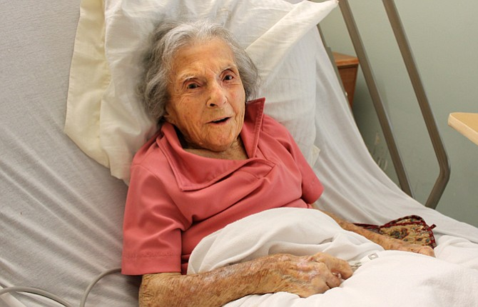 Matilda Dorland, 105, is at Columbia Basin Care Facility recovering from hip surgery, but plans to return home to her mobile home in The Dalles where she has lived for over 40 years.