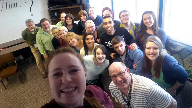 University of Idaho students and NICI staff take a moment for a selfie during their weeklong experience at the Cottonwood correctional facility.