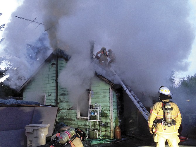 Dallas firefighters were on scene for about an hour to extinguish a fire on Fairview Avenue on Thursday.