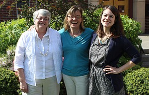 Deb Allen, left, is the only female pastor in The Dalles but she is joined by two other United Church of Christ women pastors in the gorge, Vicky Stifter at Riverside Community in Hood River and Kelly Ryan at Bethel in White Salmon.