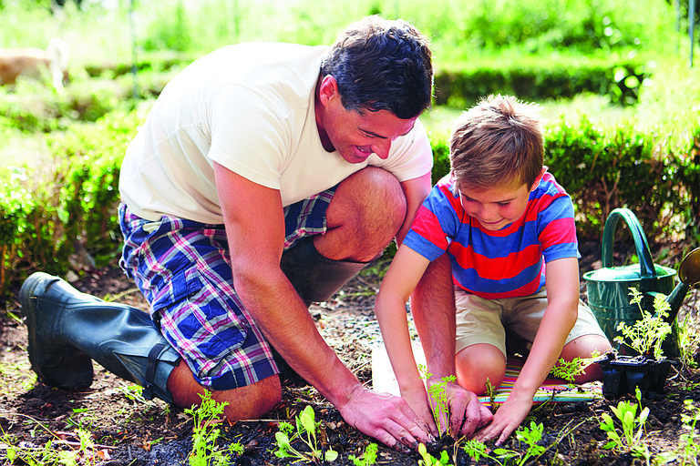 Kids are more likely to eat vegetables and fruits if they grow their own.