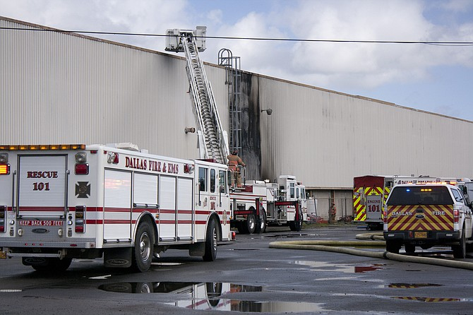 Dallas Fire responds to a fire in March at Forest River.