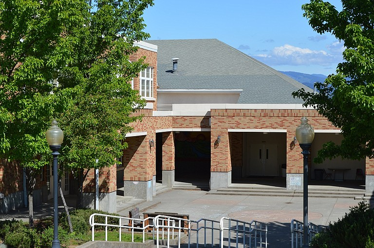 The Multi-purpose room, which houses the gymnasium and a kitchen on the upper floor and shop classrooms in the basement. The building is host to numerous school and community events, and recently received funding for a seismic upgrade. Work will begin in 2017.