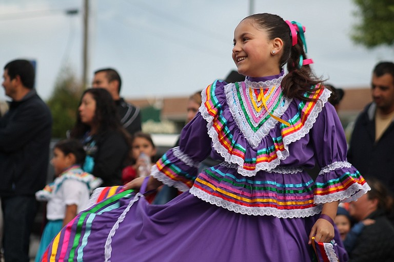 Folk dancers at Culture Fest.