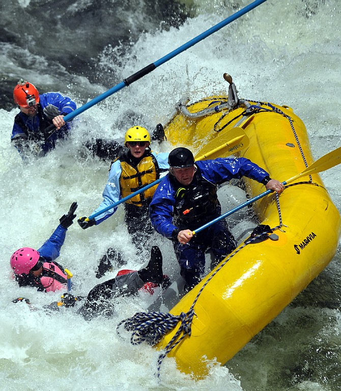 Participants were spilling over the side in the 2013 Lochsa River Madness event.