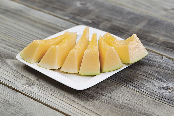 Melonsare grown on the ground where the rind can come into contact with animal wasteused as fertilizer. Wash thewhole cantaloupe before eating it. When melons are cut, the knife may transfer bacteria to theinside of the fruit.