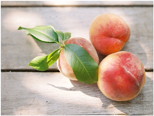 PEACHES grown at Mt. View Orchards, located in Parkdale, will feature in the Fresh Start dessert.